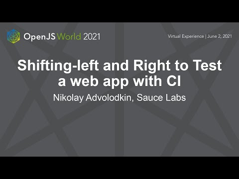 Shifting-left and Right to Test A Web App with CI