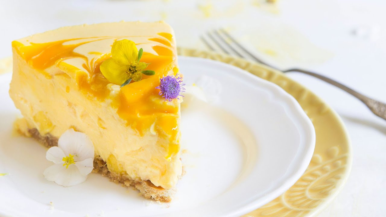 How To Decorate Mango Cake
