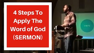 How To Apply God's Word In My Life (4 Simple Steps) - Adrian Hines