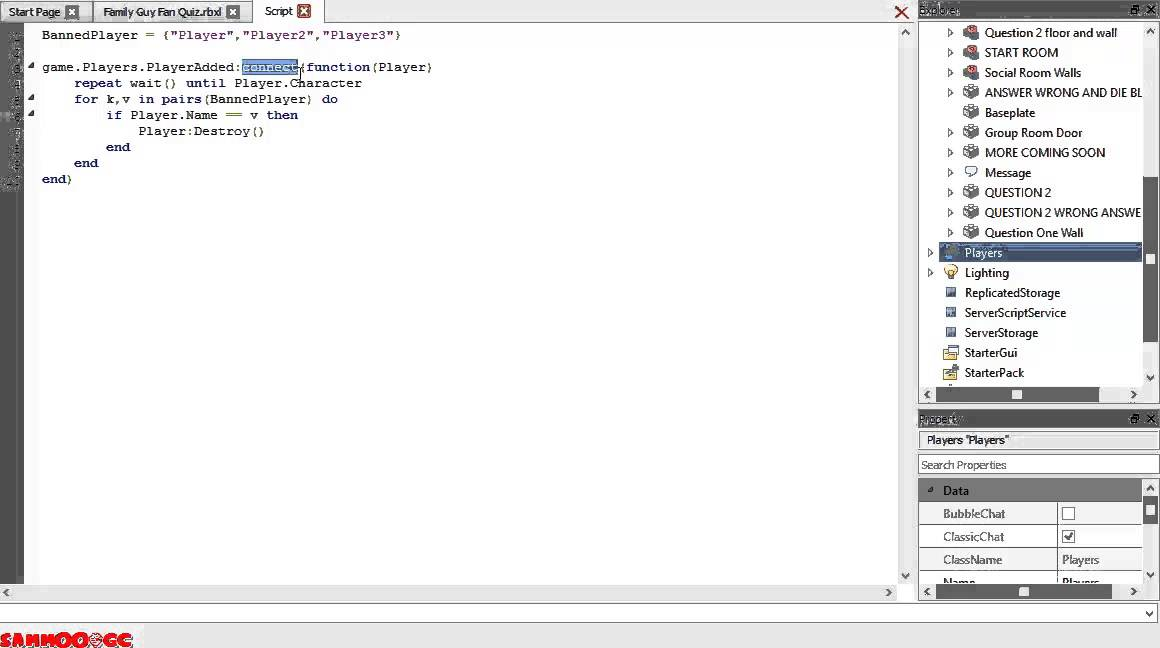 roblox how to repeat a script
