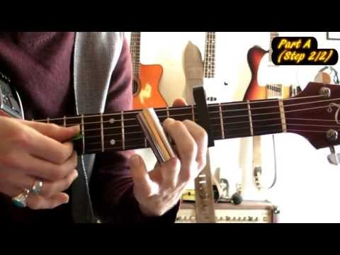 Too old to die young (Brother Dege-Tarantino) - Bottleneck Blues Guitar lesson, Open E/Open G