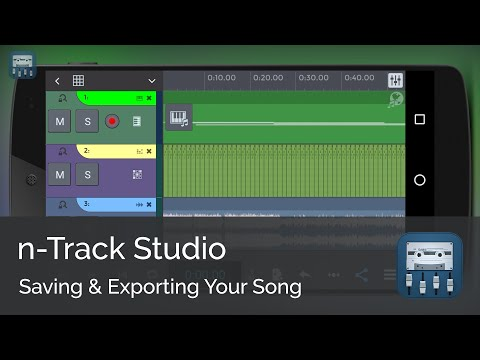 Saving and exporting your song     n-Track Studio Android Tutorial Series (Beginners)
