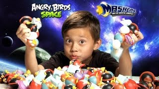 The Ultimate ANGRY BIRDS SPACE MASH'EMS Adventure!!! - EPIC Special Effects!  Super Cool Toy!