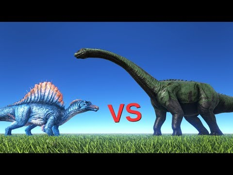 Spinosaur vs Brontosaurus (outdated) || ARK: Survival Evolved || Cantex