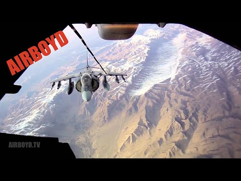 Harrier Refueling Over Afghanistan (2012)