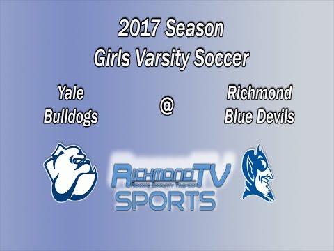 Richmond TV Sports: Girls Varsity Soccer - Yale Bulldogs vs. Richmond Blue Devils