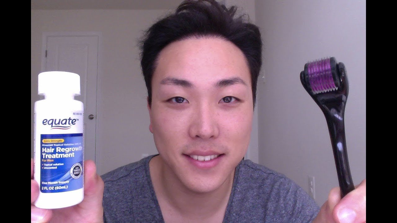How To Use Derma Roller and Minoxidil For Hair Loss