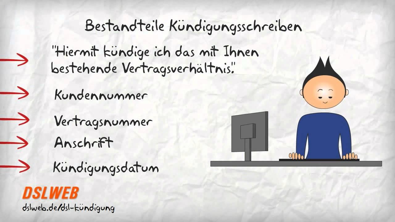 Kündigungs-Schreiben Internetvertrag erstellen - YouTube