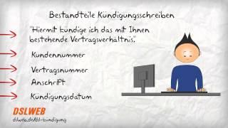 Kündigungs-Schreiben Internetvertrag erstellen