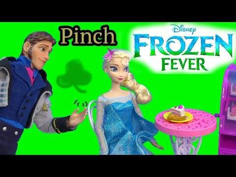 Queen Elsa Hans Pinch Princess Anna Frozen Fever Disney Dolls Kristoff St Patricks Holiday Playing
