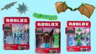 Roblox Frost Guard, Emerald Dragon & Bigfoot Snowboarder, Wizard, Blind Boxes, Series 3, Code Items