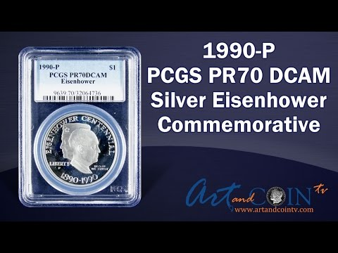 $1 1990-P PCGS PR70 Deep Cameo Eisenhower at Art and Coin TV