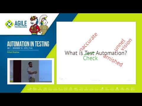 Automation in Testing - Richard Bradshaw (Agile Testing Days 2015)