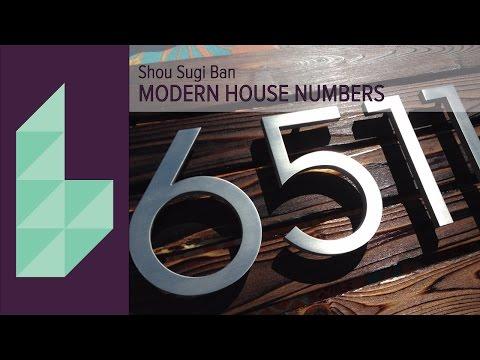 DIY Modern Rustic Shou Sugi Ban House Numbers