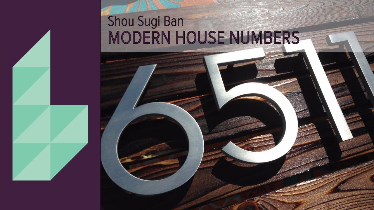 DIY Modern Rustic Shou Sugi Ban House Numbers YouTube