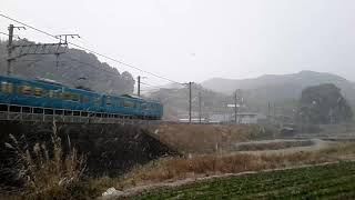 【雪の和歌山】きのくに線/普通と特急のすれ違い