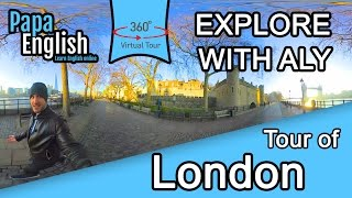 Explore London in 360 with Aly! (Watch in 4k!)