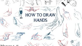 How to draw hands !