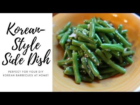 KOREAN-STYLE GREEN BEAN RECIPE | SIDE DISH | APPETIZER