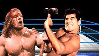 Wwe  Dara Singh vs Triple H last man Standing match