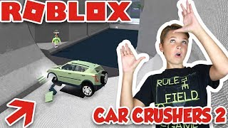 WASHING MY CAR IN THE GIANT WASHER! in ROBLOX CAR CRUSHERS 2 / MAKE MONEY BY DESTROYING CARS!