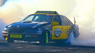 Opel Senator B 3.0 24V Massive Burnout Drift Donuts Sound Tire POP