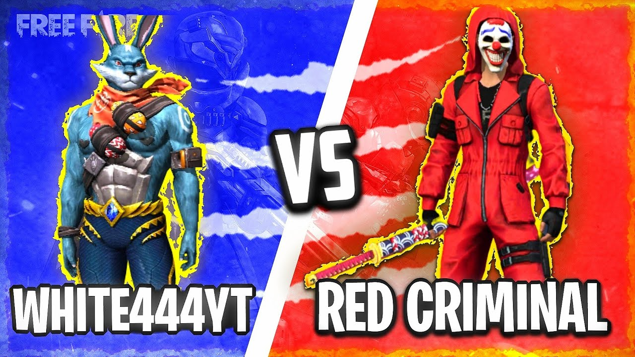 White444Yt vs Red Criminal || 1 vs 1 clash squad || Best Player  of Overpower