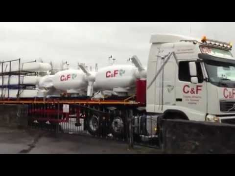 C&F Green Energy Turbines on the Road