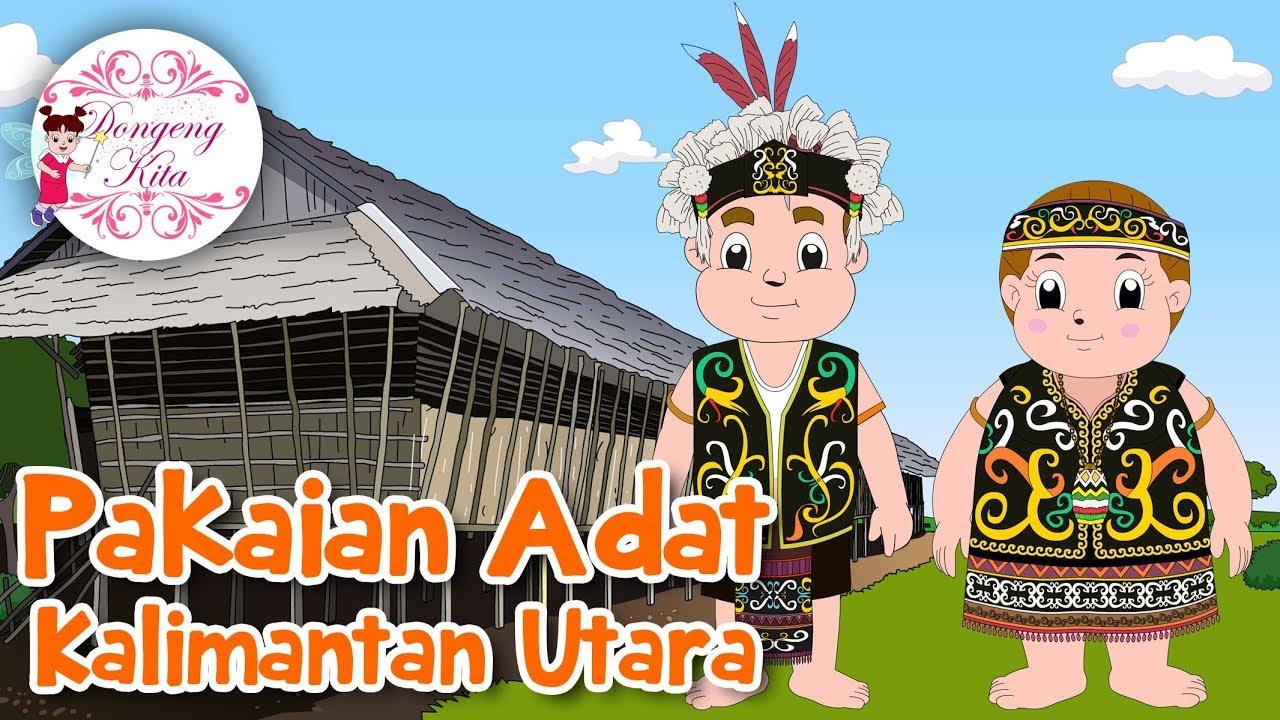 Pakaian Adat Kalimantan Barat Versi Kartun - Pakaian Adat
