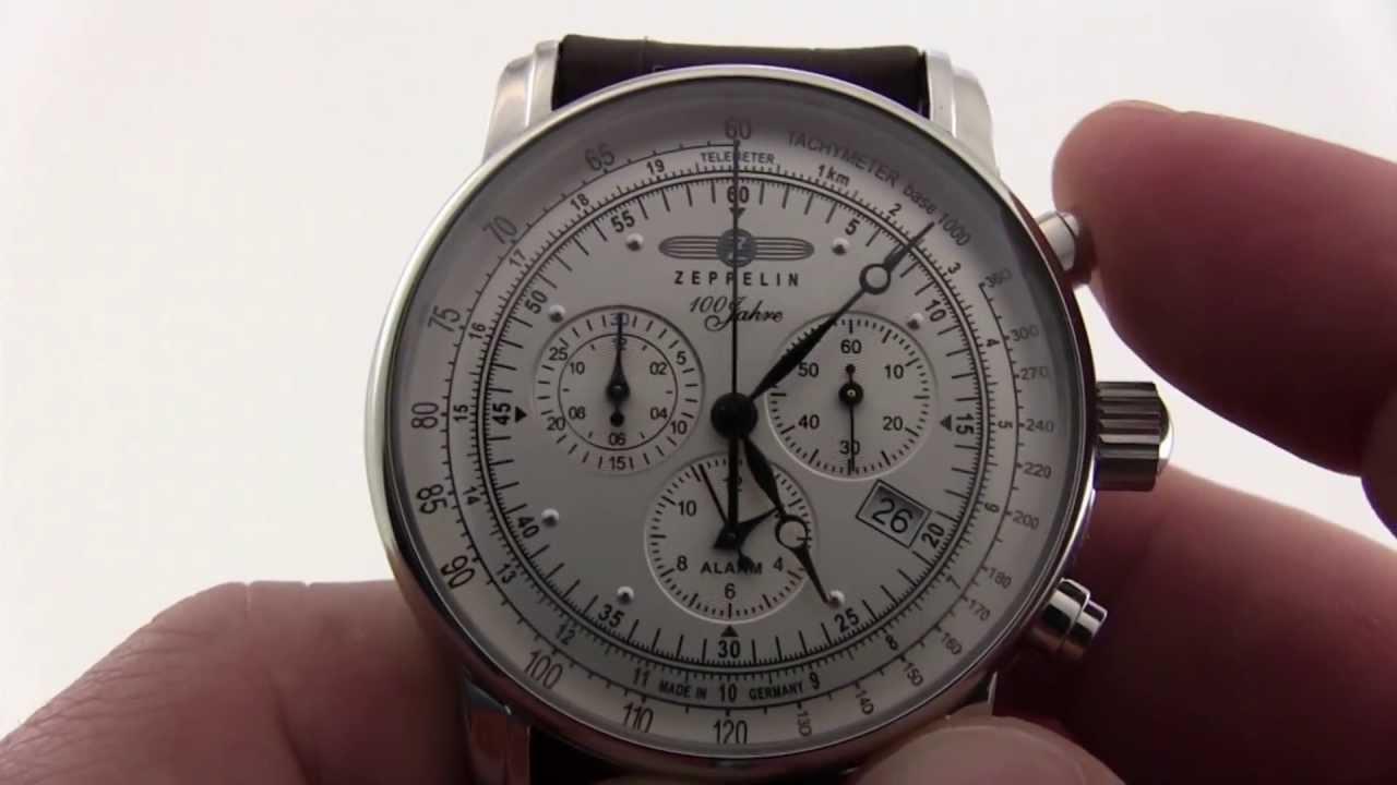 Graf Zeppelin 7680-1 Alarm Chronograph - YouTube bc47d05cac
