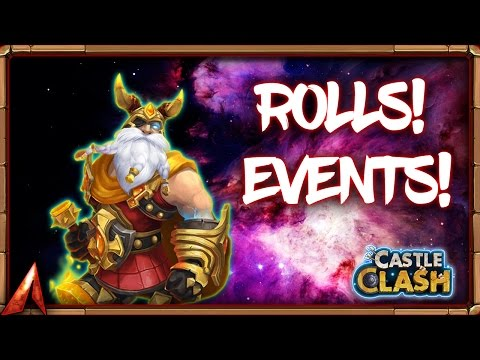 Castle Clash Rolling 51k Gems For Heroes Plus Events!