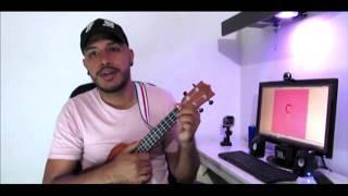 J balvin Rosa tutorial ukelele Alejandro Campos