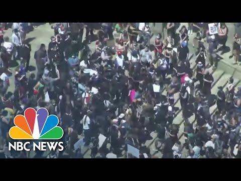 National Guard Patrols Philadelphia Amid George Floyd Protests   NBC News NOW