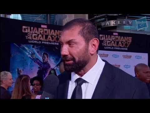 Dave Bautista Talks Drax at Marvel's Guardians of the Galaxy Red Carpet Premiere