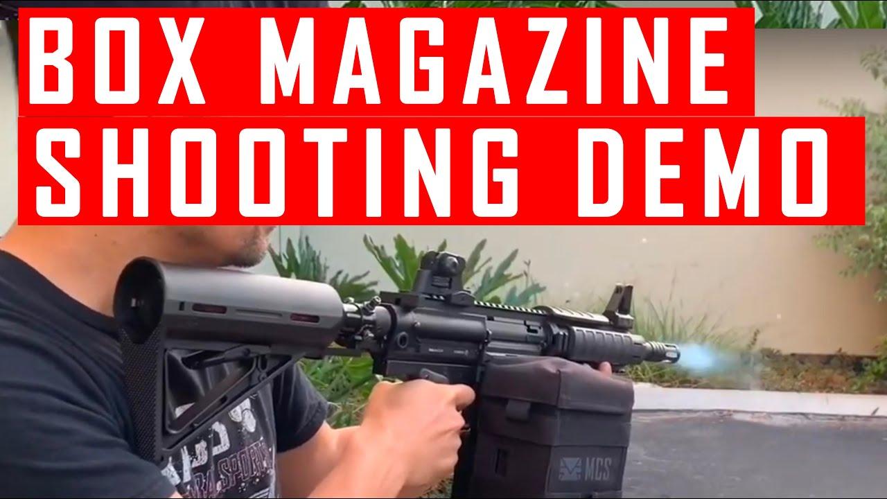 MCS Box Drive Magazine For Milsig M17 Paintball Gun