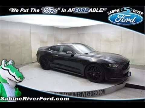 2016 Ford Mustang GT Coupe Manual Transmission Shadow Black #7490B