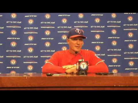 Jeff Banister tries to explain the bench-clearing brawl in Sunday's 7-6 win