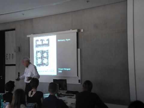 Prof. Pierre von Meiss at Faculty of Architecture, CVUT in Prague Part 2/3