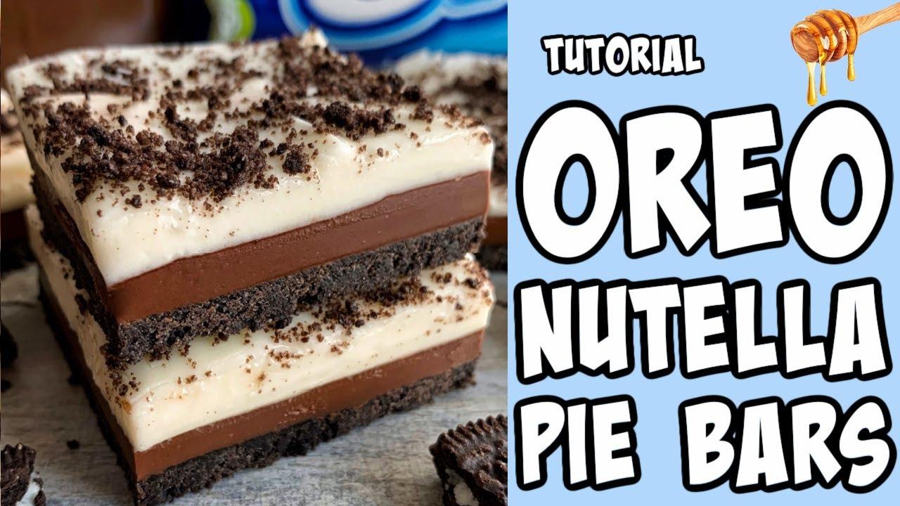 Oreo Nutella Pie Bars! Recipe tutorial #Shorts