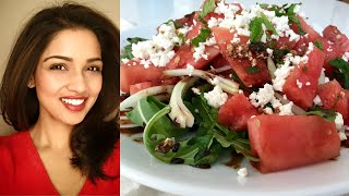 Watermelon Feta Salad Recipe - Indulgent Fuel
