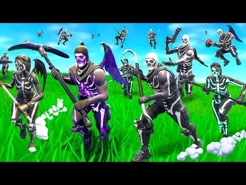 So we made a Skull Trooper Horde In Fortnite