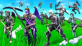 We made a Skull Trooper Horde In Fortnite