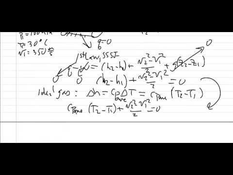 Thermodynamics: Worked example, Diffuser
