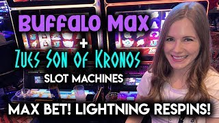 Zeus Son of Kronos! Max Bet Lightning Re-Spin Features!