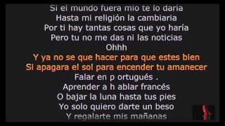 Prince Royce Darte un beso karaoke letra lyrics completa