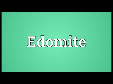 Edomite Meaning