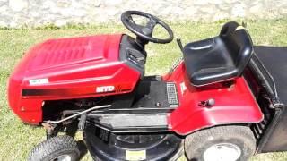 MTD RH 115/76 fűnyíró traktor motor indítás