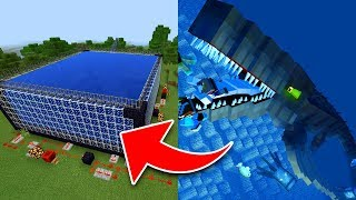 How to Make a MOSASAURUS FARM in Minecraft! (Pocket Edition, Xbox, PC)