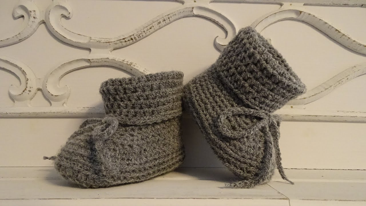 Wonderbaar Bianca Crochet Baby Booties - YouTube PJ-79