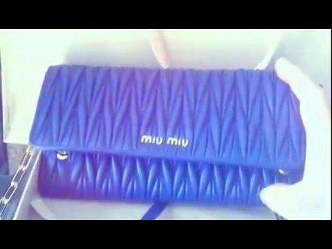 c8f84dfd59fd 我的Miu Miu钱包附皮链条  MIU MIU Matelasse Leather Chain Wallet ...